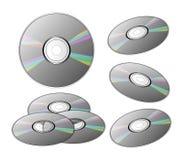 DVDs o Cdes Fotografía de archivo