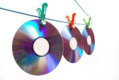 DVDs-percha Imagenes de archivo
