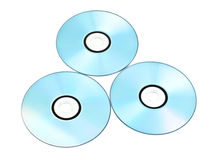 Dvds Printable isolados no branco Fotografia de Stock