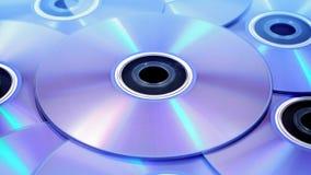 DVDs Rotating Closeup stock footage