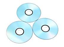 Dvds stampabili isolati su bianco Fotografia Stock