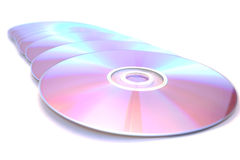 Dvds on white Royalty Free Stock Photo