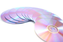 DVDs on white Stock Photo
