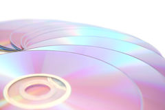 DVDs on white Royalty Free Stock Photos