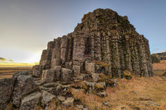 Dverghamrar Basalt Columns, Iceland Stock Photo