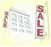Dvertisingsaanplakbord aan kant thuis 3 D stock foto's