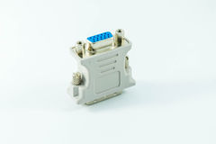 Dvi converter on white background. Dvi lie converter on white background Royalty Free Stock Image