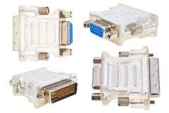 DVI/D-SUB Adapter Stockfotografie