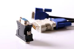 DVI/D-SUB adapter Stock Photography