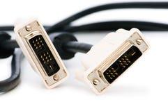 DVI kabel odizolowywający na biel obrazy stock