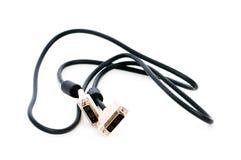 DVI kabel odizolowywający na biel zdjęcia royalty free