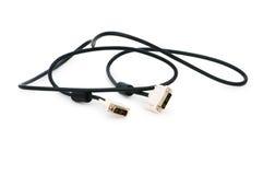 DVI kabel odizolowywający na biel zdjęcie royalty free