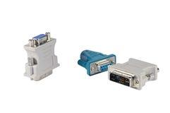 DVI to VGA adapter Stock Photography