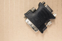 Dvi type connector Stock Image