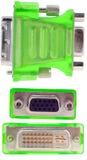 DVI VGA-Verbinder Lizenzfreies Stockbild