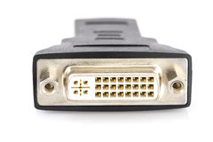 DVI zum HDMI-Hafenkonverter Stockfotos