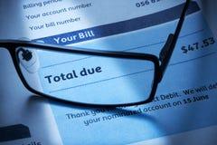 Dívida de cliente de Bill Imagens de Stock