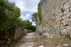 Dvigrad,中世纪镇在中央Istria,克罗地亚 免版税图库摄影