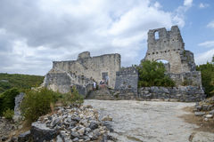 Dvigrad, средневековый городок в центральном Istria, Хорватии Стоковые Изображения