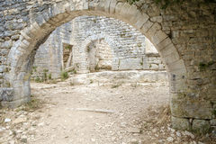 Dvigrad, средневековый городок в центральном Istria, Хорватии Стоковые Изображения RF