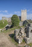 Dvigrad in Istria. Ruined city Dvigrad - picturesque ruins in Istria Royalty Free Stock Photos