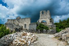 Dvigrad, Istria, Croatia. Dvigrad is an abandoned medieval town in central Istria, Croatia royalty free stock photography