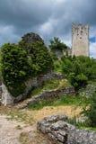 Dvigrad, Istria, Croatia. Dvigrad is an abandoned medieval town in central Istria, Croatia stock photos