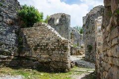 Dvigrad, Istria, Croatia. Dvigrad is an abandoned medieval town in central Istria, Croatia royalty free stock photos