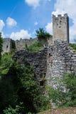 Dvigrad, Istria, Croatia. Dvigrad is an abandoned medieval town in central Istria, Croatia royalty free stock image