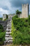 Dvigrad, Istria, Croatia. Dvigrad is an abandoned medieval town in central Istria, Croatia stock photography