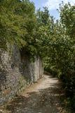 Dvigrad medeltida stad i centrala Istria, Kroatien Arkivfoton