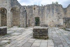 Dvigrad medeltida stad i centrala Istria, Kroatien Fotografering för Bildbyråer