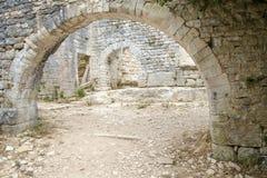 Dvigrad medeltida stad i centrala Istria, Kroatien Royaltyfria Bilder