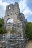 Dvigrad medeltida stad i centrala Istria, Kroatien Arkivfoto