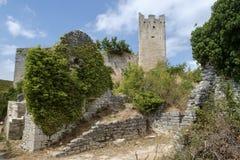 Dvigrad, middeleeuwse stad in centrale Istria, Kroatië Royalty-vrije Stock Afbeelding