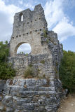 Dvigrad, middeleeuwse stad in centrale Istria, Kroatië stock foto