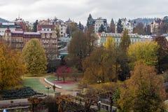 Dvorak Park, Karlovy Vary Stock Photos