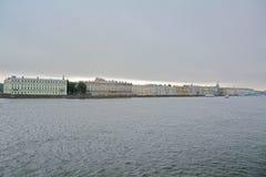 Dvortsovaya Embankment and Neva river in Saint Petersburg, Russia Stock Images