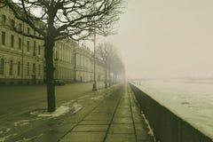 Dvortsovaya naberezhnaya, St Petersburg, Russland lizenzfreie stockfotografie