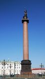 Dvortsovaya square, Alexander's column Royalty Free Stock Photography