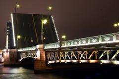 Dvortsoviy bridge in St. Petersburg Stock Images