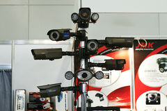 DVR, Kameras, videoÜberwachungssysteme Lizenzfreies Stockbild