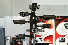DVR, macchine fotografiche, video sistemi di sorveglianza Immagine Stock Libera da Diritti