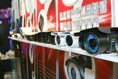 DVR, macchine fotografiche, video sistemi di sorveglianza Fotografia Stock