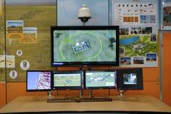 DVR, macchine fotografiche, video sistemi di sorveglianza Fotografie Stock