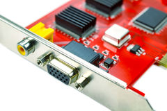 DVR motherboard closeup on white background Royalty Free Stock Photography