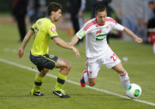 DVSC vs. Gyor Hungarian Cup Final football match Stock Photos