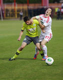 DVSC vs. Gyor Hungarian Cup Final football match Stock Image