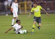 DVSC vs. Gyor Hungarian Cup Final football match Stock Images