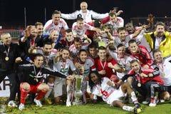 DVSC vs. Gyor Hungarian Cup Final football match Stock Photography
